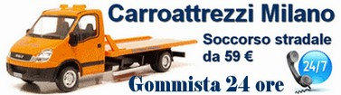 Carroattrezzi Milano da 59 € – Soccorso stradale 24 ore